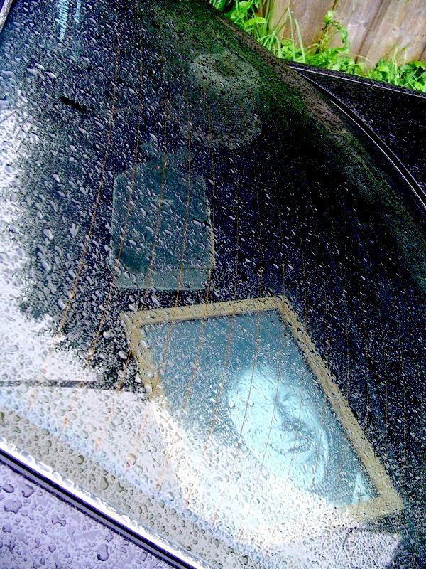 Ablage im Regen