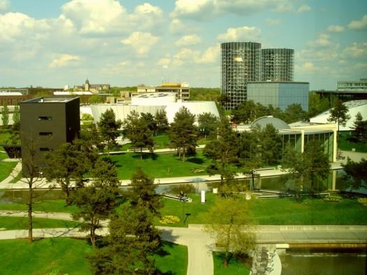 Die Parkanlagen von Wolfsburg