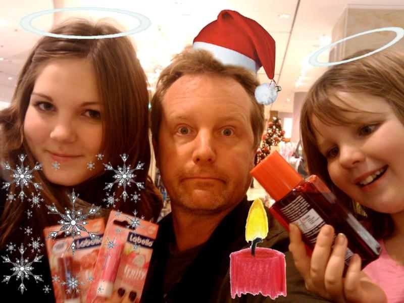 Weihnachtsshopping mit Engelchen