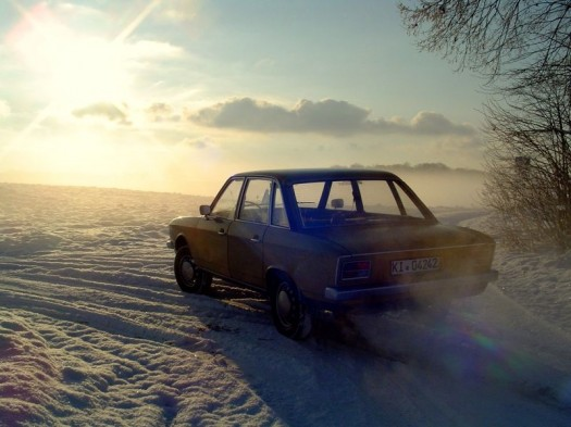 Das Model und der Schnee