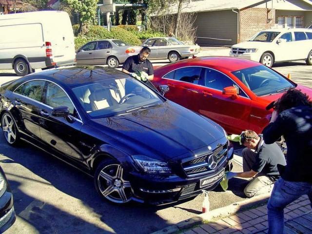 Die Autos bleiben sauber, auch unterwegs