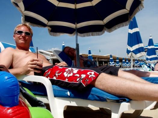 Prost Cola unter sengender Sonne