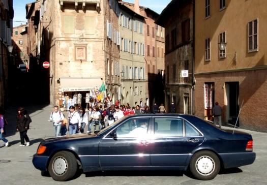 Siena, Toscana, schnell weg hier.