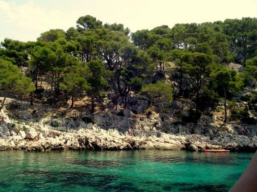 Die Calanque Port Pin, weiß und grün