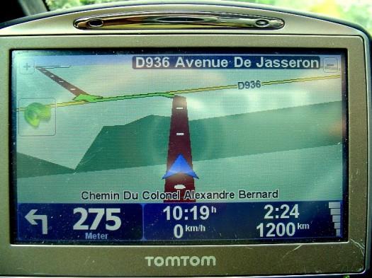 Beachten Sie die Entfernung!