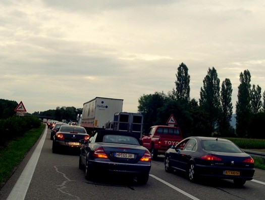 Rückstau in Allemagne