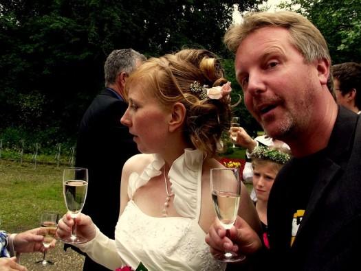 Ein Sektchen auf die Braut