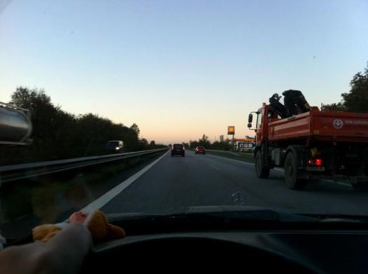 Fahrn fahrn fahrn auf der Autobahn