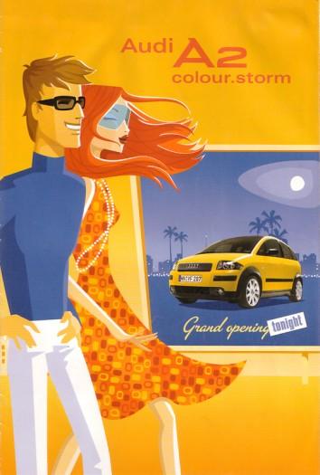 Audis Versuch, den A2 an die junge Käuferschicht zu bringen (2003)
