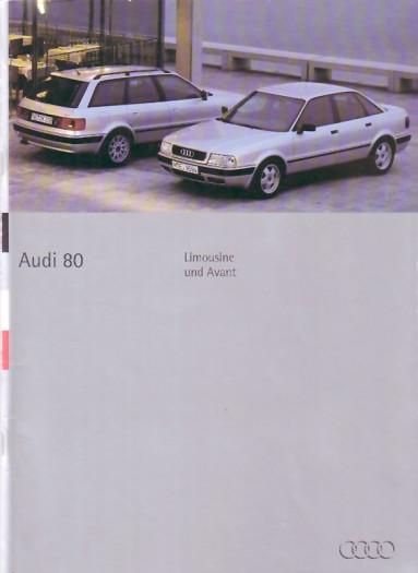 Edle Audi 80-Präsentationsmappe (1994)
