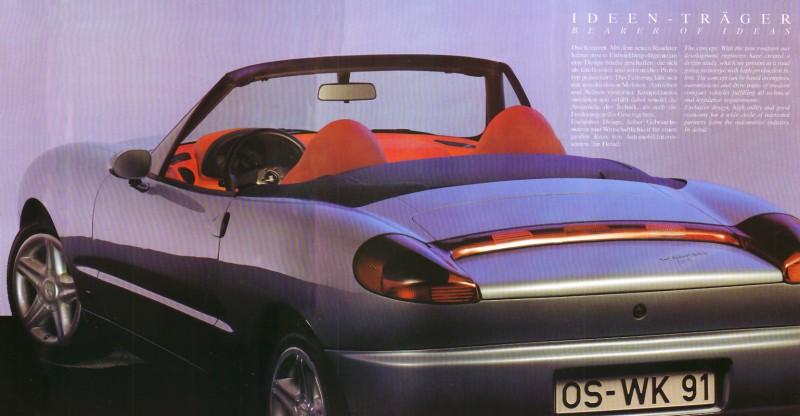 Karmann IDEA (1991) - später tauchte sein Design in Form des Porsche Boxter wieder auf