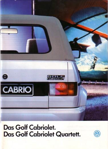 VW Golf Cabrio, 1988