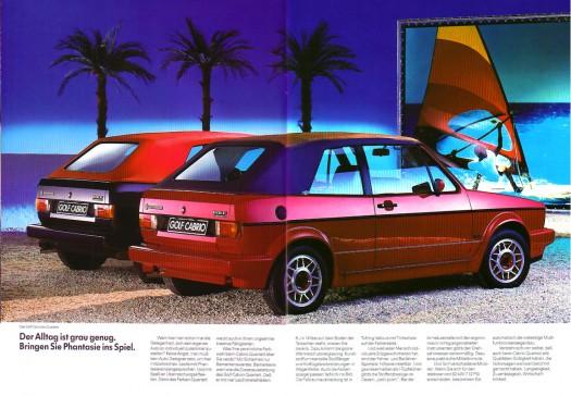 Fabrliche Variationen beim Golf Cabrio (1988)