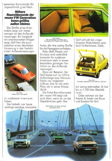 Generationswechsel bei VW - die neue Flotte wird mit Wasser gekühlt und ist frontgetrieben (1976)