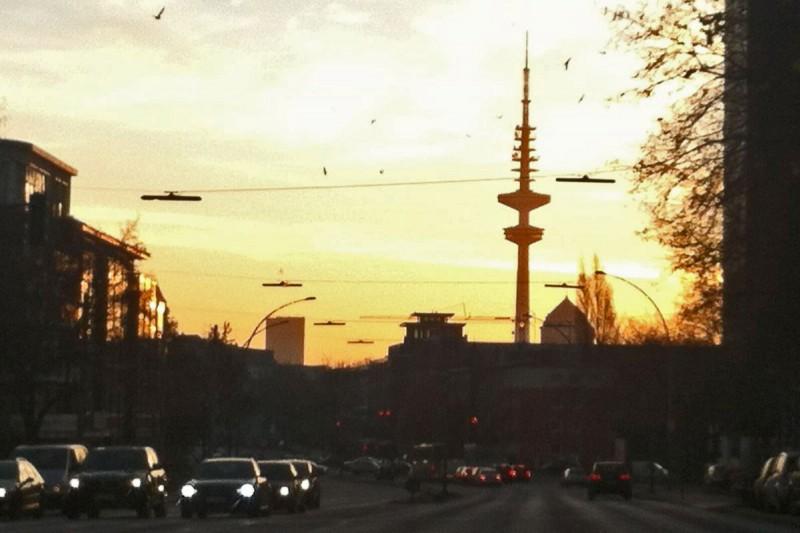 Morgensonne über Hamburg