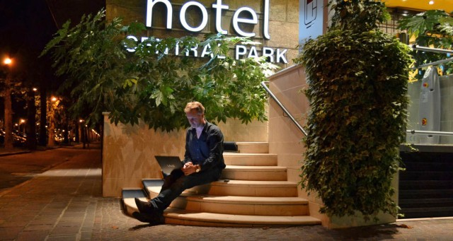 W-LAN nur außerhalb des Hotels