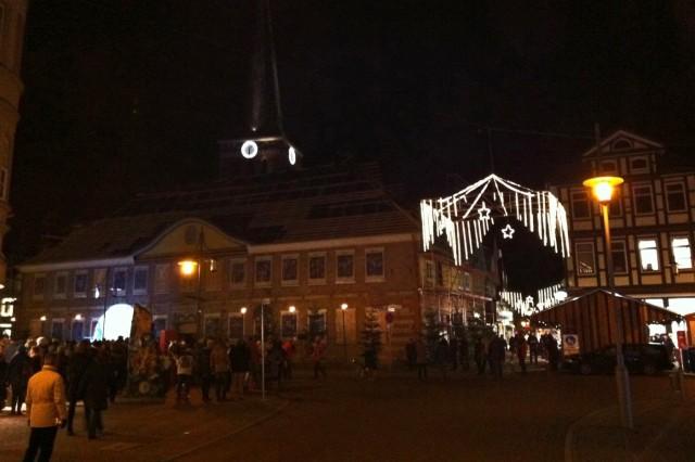 Weihnachtskalender, diesmal tatsächlich vorm Rathaus