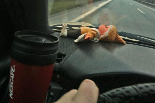 Frischer Kaffee, das Sandmännchen passt drauf auf.
