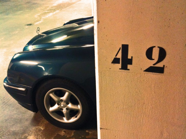 Wo parken, wenn nicht hier?
