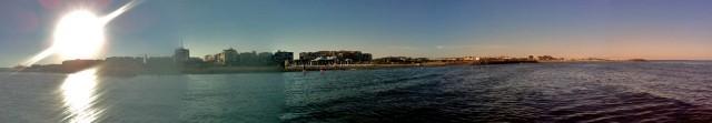 Das Cap d'Agde, vom nassen Wasser aus betrachtet