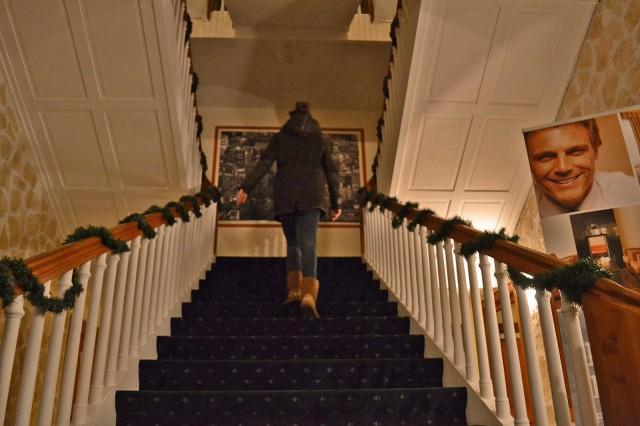 Erhabene Stufen in den ersten Stock