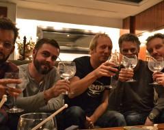 Tim, Kai, Helge, Andreas, ich. und Gin