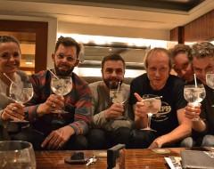 Hanna, Tim, Kai, Helge, ich, Andreas und Gin.