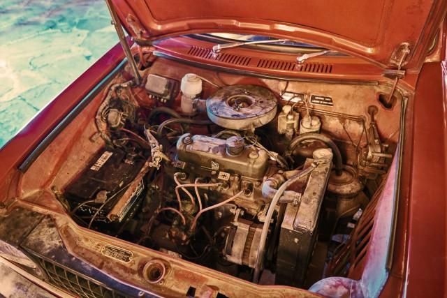 On, jemand hat den Motor gestohlen! - nein, doch nicht!