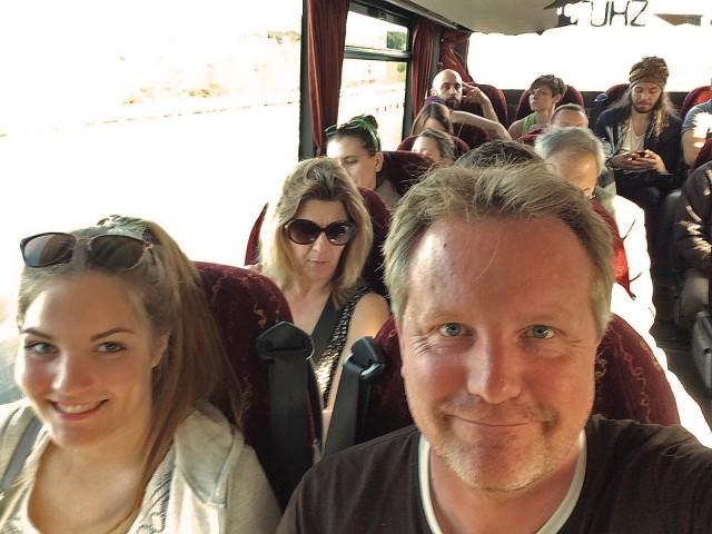 Noch n Selfie. Diesmal im Bus.