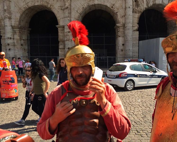 Römer mit Selfie-Cam