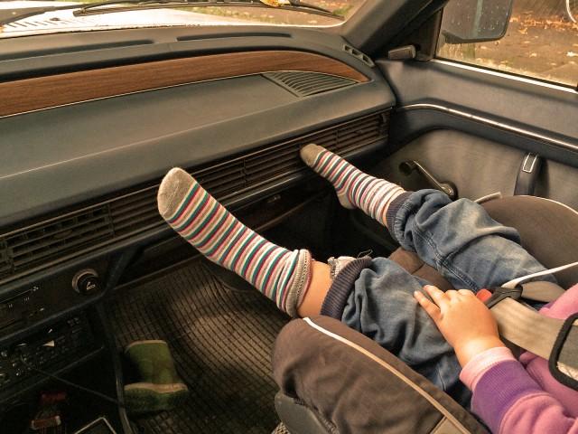 Könnten auch Papas Socken sein...