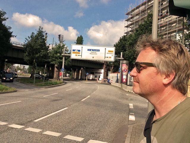 Fußgänger in Autogebieten