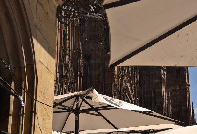Flammkuchen im Schatten des Münsters