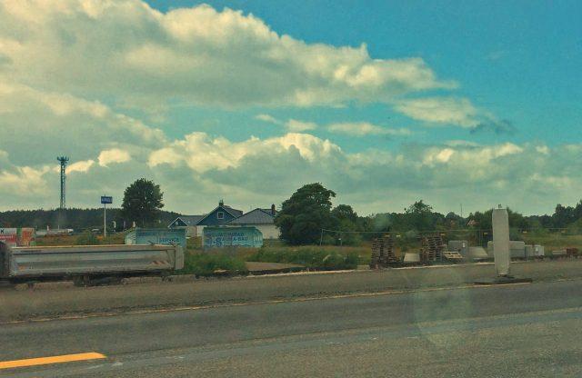 Die Häuser mit den blauen Dächern