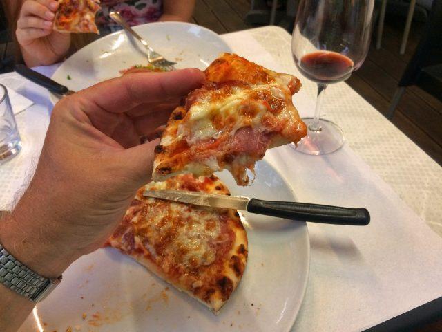 Hochverdiente Pizza
