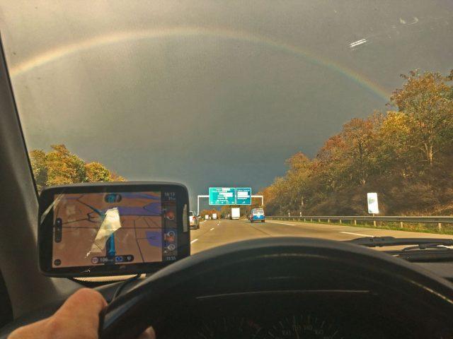 Ein Regenbogen bedeutet ja meistens etwas Schönes.